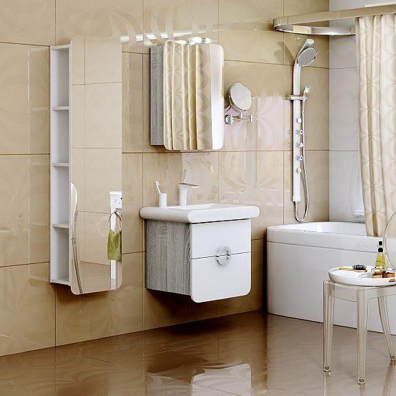 пенал зеркальный для ванной эффективные